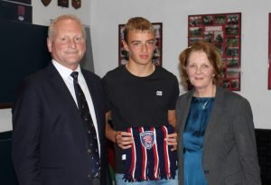 Under 14 winner Jacob Llewelyn