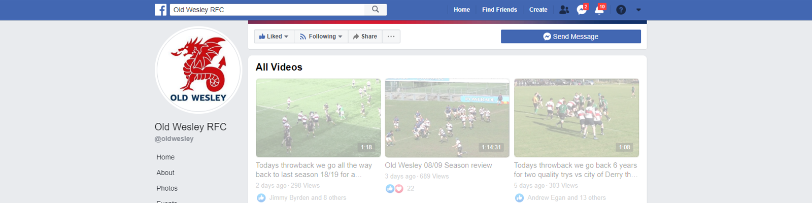 find out more about Facebook Broadcast – Part 2 – 1st XV 2019-20